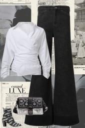 BLACK N WHITE DRESSED JUST RIGHT