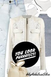 Lace Leather Jacket