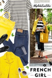 Stripes   Yellow   Denim