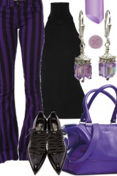 PURPLE AND BLACK STRIPPED BELLS