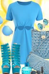 LITTLE BLUE TEE DRESS