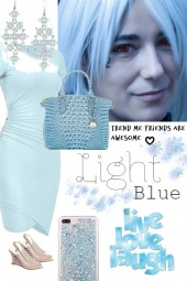LIGHT BLUE TEE DRESS