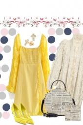YELLOW DRESS ON TREND ME ,.,.,.,.
