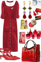 "RED DRESS ON TREND ME ""' `"