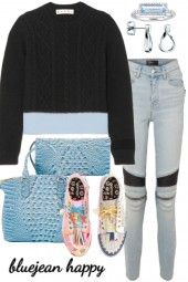 #.# SWEATER AND JEANS