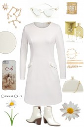 WHITE DRESS ON TREND ME