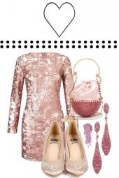 PINK BROCADE DRESS 2020