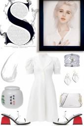 WHITE DRESS FOR SUMMER 2020 (6820)