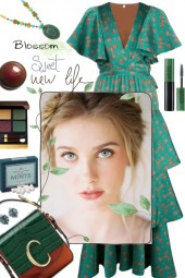 TIERED GREEN DRESS IN JUNE 2020