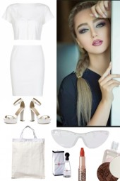 TREND ME WHITE SKIRT WITH TOP 8212020