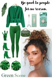 GREEN CASUAL JEANS OUTFIT FOR 2020