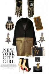 MANHATTAN BLACK AND GOLD