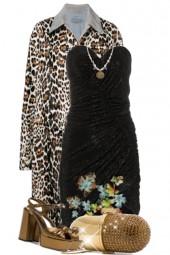 crystal bustier mini dress