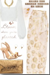 Gold and white <3