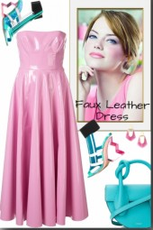 Faux Leather Dress <3 <3 <3