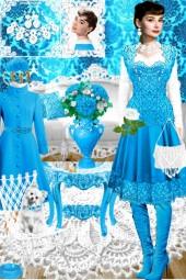 Набор. Милен. Белый. Голубой 11 интерьер 1. Весна