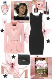 LBD with Little Pink Jacket
