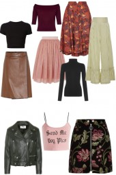 mix & match leather & tulle