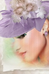 A lilac hat