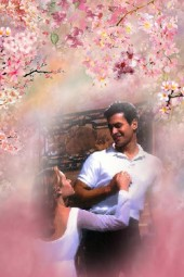 In the blooming garden
