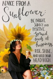 Advice from a sunflower
