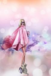 A pink cape