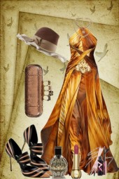 A dress in bronze