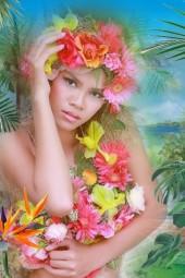 A tropical beauty