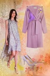 In lilac colour