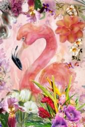 A pink flamingo