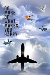 Flying makes happy