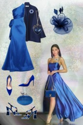 An outfit in royal blue
