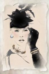 Lady in black 2
