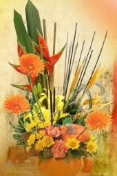 A bouquet in autumn colours
