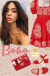 Summer red look