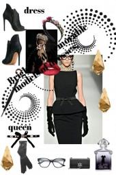 Платье королева черного