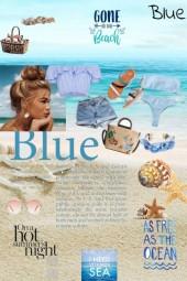 Blue on Beach
