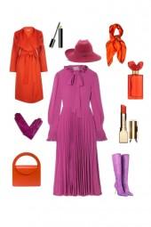 Фиолетовый   оранжевый