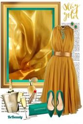 nr 137 - Gold & Emerald Green