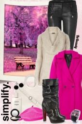 nr 377 - Hot pink coat