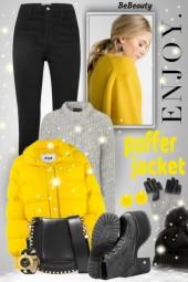 nr 584 - Enjoy the Winter - wear puffer jacket