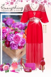 nr 1012 - Red & pink - unusual combo
