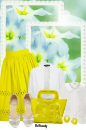nr 1032 - Yellow and white