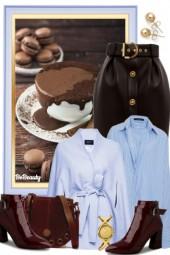 nr 1202 - Dark chocolate & baby blue