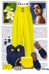 nr 1336 - Navy & yellow