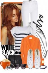 nr 1540 - White-black-orange