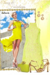nr 1659 - Lime green & gold