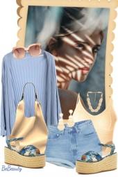 nr 1680 - Blue & beige