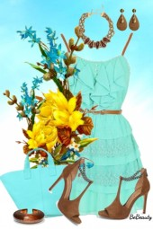 nr 1774 - Summer in turquoise and brown