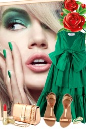 nr 1777 - Emerald green dress